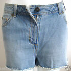 ladies womens highwaisted denim blue shorts hotpants  ' size 16 only '