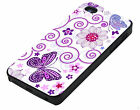 Butterfly and flowers iPhone 5 Cover Vintage i Phone Case hard