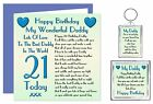 HAPPY BIRTHDAY DADDY AGES 18 TO 65 CARD & KEYRING GIFT - BEST DADDY IN WORLD