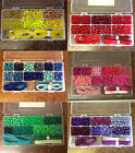 Beads Kit, Approx 600 Pony Beads, 1x18 Compartment Case, 20 Metres stringing