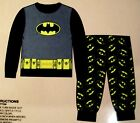 Batman Long Sleeve & Leg 2 Pc. Cotton Pajama Set Sleep Wear Boys 18M, 24M NIP