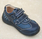New Boys Start-rite Leather Rowdy Shoes New Navy - G width