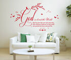 John 3 v 16 Bible Quote, Vinyl Wall Art Stickers, Bedroom, Lounge, Study, Office