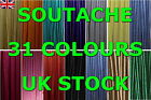 SOUTACHE BRAID CORD 3 MM WIDE 2 METERS 31 COLORS! - HIGH QUALITY STRING - UK