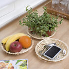 Bamboo Bread Snack Plate Holder Pack of 3 Storage Basket Plant Display Tray Set