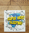 BOY'S ROOM DOOR PLAQUE, 3D EFFECT, CHOICE OF TWO - DANGER & SUPER HERO !!!