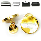 Engraved Gold Cufflinks Cuff Links Personalised Giftbox Wedding Present Best Man