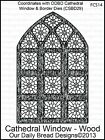 Our Daily Bread Designs Clear Stamp Cathedral Window Wood or Marble