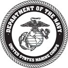 U.S. Dept Navy Marine Corps #2 Wall Window Vinyl Decal Sticker Military