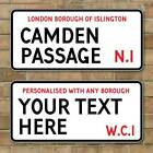 London Street Sign, Metal Road Sign, Vintage Style Personalised any text u like