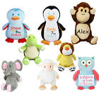 Personalised Baby Cubbies Teddy Bear Gift Newborns Christening Soft Toy Present