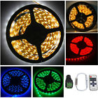 5M 12V 3528 SMD 300 LED Strip Light Party Decor Flexible RGB Lighting + Adapter