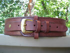 "Cartridge Gun Belt - .22 Caliber - Brown- 32"" to 44"" - Genuine Leather"