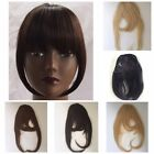 Clip in Front Closure Bangs Fringe Straight 100% Remi Human Hair Extensions