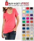 New LAYERING SCOOP Short Sleeve T Tee Shirt Top Plus Size XL/1X/2X/3X FREE SHIP