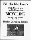A Harley-Davidson bicycle -  repro vintage  poster £5.5 GBP on eBay