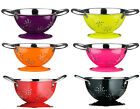 RETRO ENAMEL MINI COLANDER & UTENSIL HOLDER W/HANDLES MIXERS BOWL IN 6 COLOURS