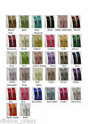50M reels of woven edge double sided quality satin ribbon in 4 widths 32 colours