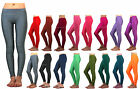 WOMENS Shiny Lycra Stretchy LEGGINGS Jeggings Skinny Tights Pants LOW WAIST Rise