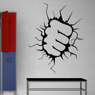 INCREDIBLE HULK wall sticker fist punch boys vinyl large transfer stickers quote