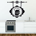 BEER wall stickers pub vinyl sticker bar cafe kitchen decal drink large quotes