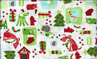 Dog Park Christmas I Spy Santa Paws Poodle Bulldog Scottie Doxie By Fat Quarter