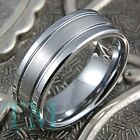 8mm Mens Tungsten Ring Brushed Wedding Band Fashion Womens Jewelry Size 6-15