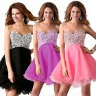 Stunning Sequins Beaded Corset Evening/Formal/Ball gown/Party/Prom Dresses Short