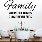 FAMILY wall stickers decals large art vinyl life quotes personalised quote decor