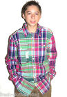 RALPH LAUREN POLO Button Up New Boys Casual Classic Plaid Shirt Size XL