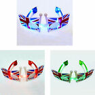 LED UK Flag Flashing Glasses Party Parties Fancy Dress Festival Hen Stag Night B