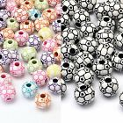 Mixed Soccer/Football Beads approx 12mm