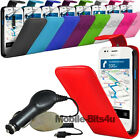 PU LEATHER FLIP CASE COVER, FILM AND CAR CHARGER FOR VARIOUS MOBILE PHONES
