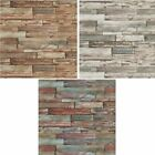 New Luxury Erismann Authentic  Wood Panel Painted Effect Textured Wallpaper