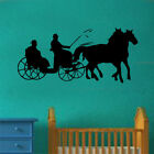 Horse & Carriage Vinyl Wall Sticker Art Vinatge Shabby Chic Living Room