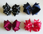 BRAND NEW Girls BOUTIQUE Double Bows 4.5 inches