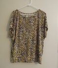 Women's Plus Size Lightweight Shirt / Blouse Leopard Print, Dolman Sleeves