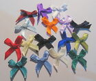 10 x Satin Ribbon Bows - approx. 20mm wide - selection of colours (SB3L)