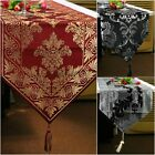 "82x12"", Flock Taffeta Velvet Embroidered Table Runners Cloth for Banquet Wedding"