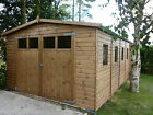 QUALITY T&G WOODEN BESPOKE GARAGE/WORKSHOP/STORAGE WITH GLAZED DOOR 004
