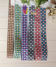 "1"" Argyle Printed Fashion Grosgrain Ribbon hair Bow Craft 5/10/20/50/100 Yards"
