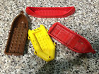 LEGO BOATS AND BOAT PIECES VARIOUS COLOURS AND SIZES USED