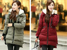 2013 New Women's Hooded Down Cotton Multi-pocket thick warm coat Cotton jacket #