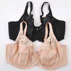 Full Coverage Underwire Jacquard Non Padded Lace Sheer Bra Black White Beige