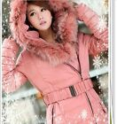 Luxury Winter Warm Coat Women's Thicken Duck Down Fur Collar Puffer Parka