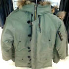GREEN PADDED LIAM WINTER  PARKA JACKET RETRO VINTAGE  WELLAR NEW
