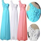 Sweetheart Chiffon One Shoulder Long Formal Prom Party Bridesmaid Evening Dress