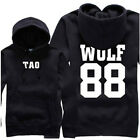 NEW K-Pop EXO XOXO WOLF FROM PLANET KRIS LUHAN XIUMIN Hoodie Sweater Black/Red