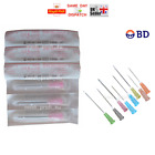 50x 100x BD NEEDLES STERILE 23G BLUE 0.6x25 1 INCH REFILL INK FAST UK P&P CHEAP