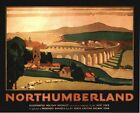 Vintage LNER Northumberland Berwick Upon Tweed Railway Poster A3 / A2  Reprint